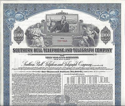 Southern Bell Telephone & Telegraph Company Bond Certificate 1947