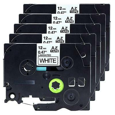 5 pk P-touch 12mm Compatible for Brother Standard Label Tape TZe-231 TZ-231
