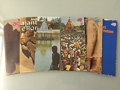 6 Vintage *INDIA* Travel Brochures/Maps/Tourist Info 1970's-80 ...New Condition!
