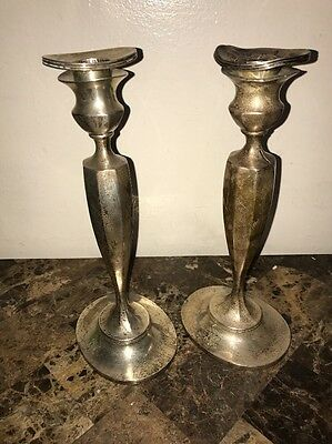Made For Tiffany & Co. Sterling Silver Candle Holders