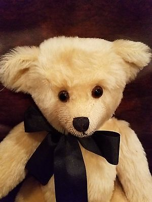 "White (Cream) Bear  16"" Fully Jointed Mary Driscal"