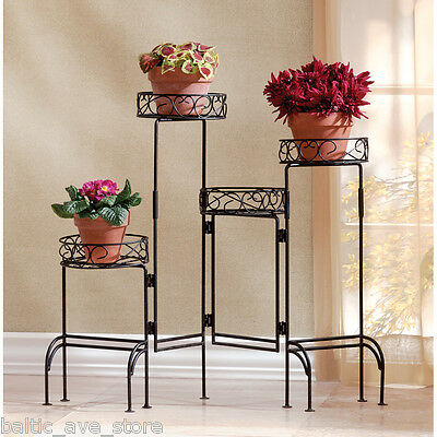 Multi Shelf Metal PLANT STAND Flower Pot Home Foyer Garden Patio Decor Indoor