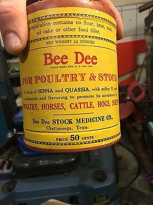 Bee Dee Livestock Medicine Antique Early Farm