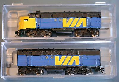 Intermountain FT A & B Unit Set hand painted Via Rail DCC / DC N Scale
