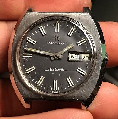 Hamilton Electric Watch 1970 For Parts Or Repair