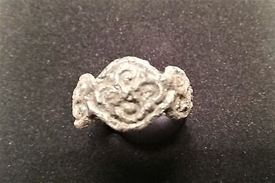 Ancient Silver  Viking Age Ring Relic . . 11-13 Century