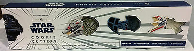 WILLIAMS SONOMA Star Wars Cookie Cutters Millennium Falcon Tie-fighter X-wing