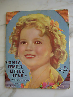 SHIRLEY TEMPLE Little Star Her Life in Pictures Book 1936 Saalfield Pub. # 1762