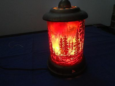 Forest Fire Motion Lamp 1950'S