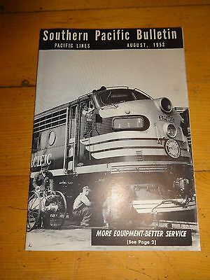 Southern Pacific Bulletin Employee Magazine 8/1952 Railroad Collectible