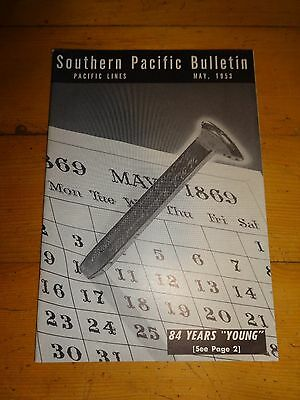 Southern Pacific Bulletin Employee Magazine 5/1953 Railroad Collectible