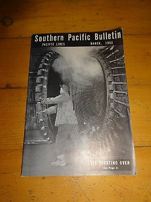 Southern Pacific Bulletin Employee Magazine 3/1952 Railroad Collectible