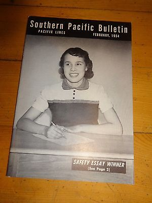 Southern Pacific Bulletin Employee Magazine 2/1954 Railroad Collectible