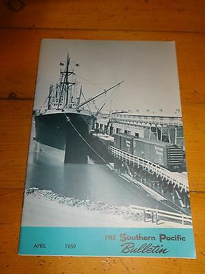 Southern Pacific Bulletin Employee Magazine 4/1959 Railroad Collectible