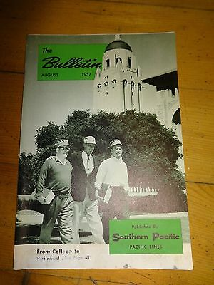 Southern Pacific Bulletin Employee Magazine 8/1957 Railroad Collectible