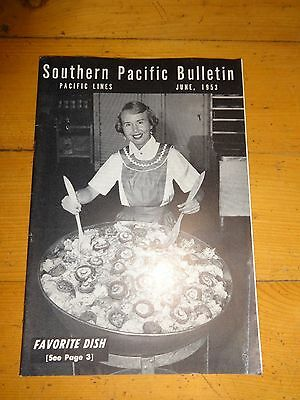 Southern Pacific Bulletin Employee Magazine 6/1953 Railroad Collectible