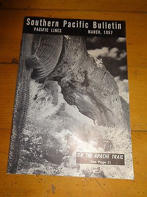 Southern Pacific Bulletin Employee Magazine 3/1957 Railroad Collectible