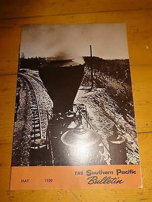 Southern Pacific Bulletin Employee Magazine 5/1959 Railroad Collectible