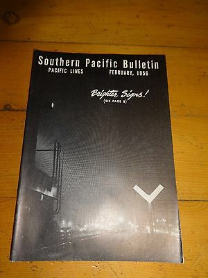 Southern Pacific Bulletin Employee Magazine 2/1956 Railroad Collectible