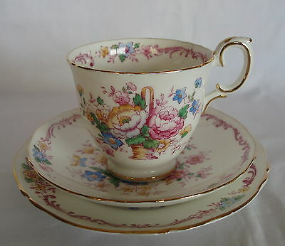 Vintage Crown Staffordshire Trio Made In England