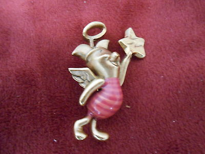 Disney Pin 28925 3-D goldtone Piglet as angel Sold Out Wanting 5, Trading 1