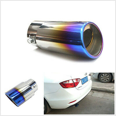 Colourful Chrome Round Car EXHAUST Tail Muffler Tip fit Pipe diameter 1.8-2.2 T
