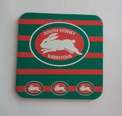 NRL official licensed product.1 South Sydney Rabbitohs neoprene drink coaster