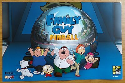 Limited Edition FAMILY GUY Pinball Poster (only 2000 existing!)