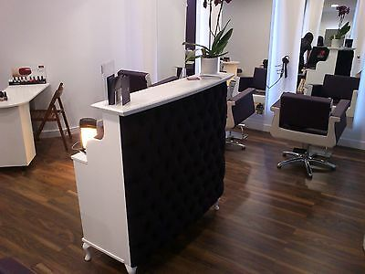 Reception Desk - French Style Shabby Chic - Salon Counter Retail Cash and Wrap