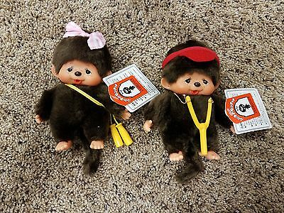 "MONCHHICHI Thumb Sucking Girl Boy 5"" Monkeys Sekiguchi New with tags"