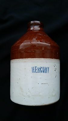 Vintage Stoneware Crock Jug Used for Mercury in the Rand Mining District, Ca