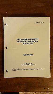 Army Military Manuals FM 3-21.71 Mechanized Infantry Platoon and Squad NEW