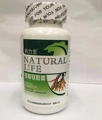Free Shipping~2 Bottles Cordyceps Sinensis cleaner lung Improve Respiratory