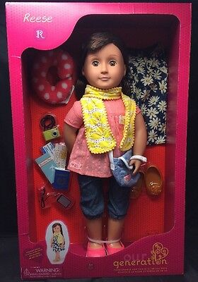 """Our Generation 18-inch Reese Doll without Book 18"""" Toy Set"""