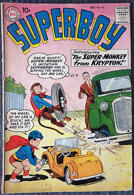 Superboy #76 - The Super-Monkey from Krypton - first appearance of Beppo!