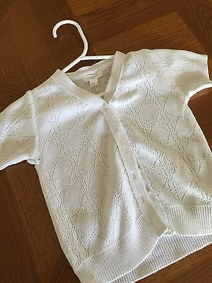 Purebaby baby girls Summer cardigan - Size 6-12 mths - Excellent Cond!