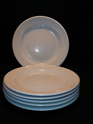 "REGO Fine Porcelain 12"" DINNER / CHOP PLATES Lot x 6 Pure White Restaurant Ware"