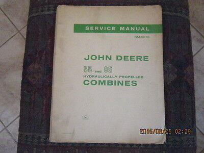 Vtg 1966 Service Manual SM-2078 John Deere 55 and 95 Combines Book Advertising