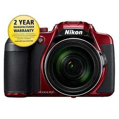 Nikon Coolpix B700 Digital Camera - Red with GEN NIKON WARR
