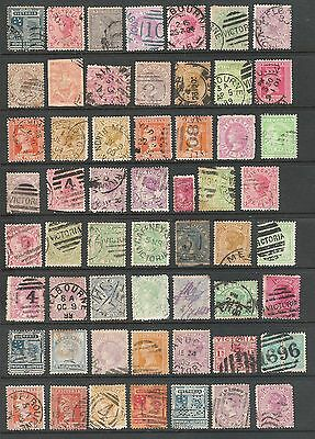 Large Lot of very old Victoria stamps.  (2-12-17)