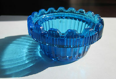 Antique Cobalt blue 6 footed small may be toothpick holder