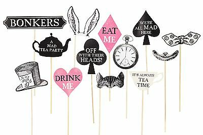 Truly Alice in Wonderland Photo Booth Props Tea Party Decoration