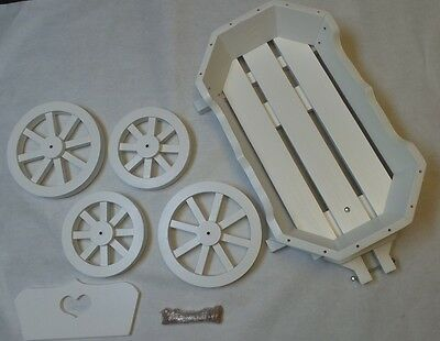 Mini Wedding Angel Cinderella Wooden Carriage Gloss - White