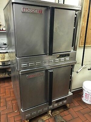 Blodgett DFG-100 W/ Cook Double Deck Natural Gas Convection Ovens 115V
