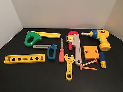 Plastic Children Play Tools Little Tikes Fisher Price and Generic Tools 11 Pcs