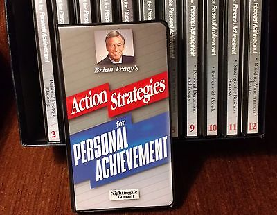 ACTION STRATEGIES for PERSONAL ACHIEVEMENT BY BRIAN TRACY 12 Volumes 24 Tapes