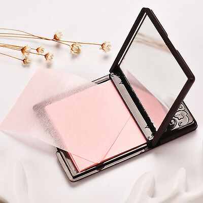 Luxury Metal Box With Mirror Clean Clear Oil Control Face Film Blotting Paper