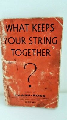 What Keeps Your String Together? BAASH-ROSS