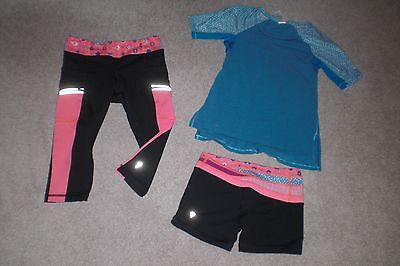 Lot of Rare Girls Ivivva by Lululemon Crops, Shorts and Tee sz 6