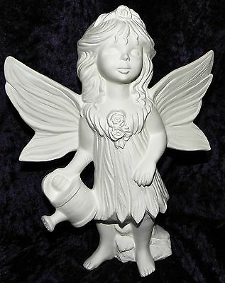 Ceramic Bisque Ready to Paint Fairy with watering Can